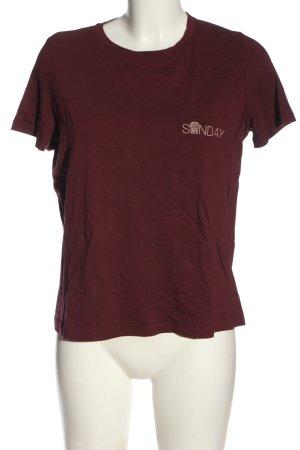 Vero Moda T-Shirt rot Schriftzug gestickt Casual-Look