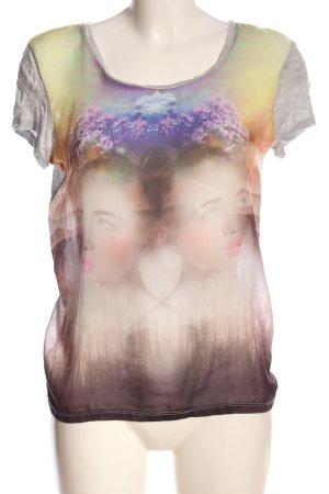 Vero Moda T-Shirt hellgrau-creme Motivdruck Casual-Look