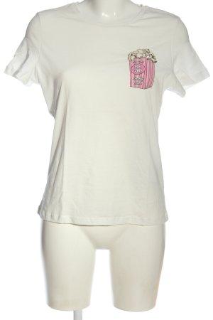 Vero Moda T-shirt blanc imprimé avec thème style décontracté