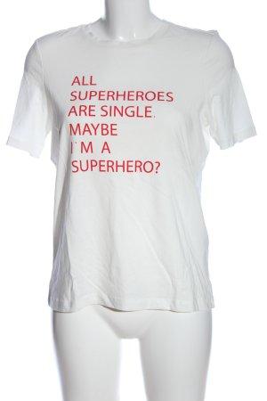 Vero Moda T-Shirt weiß Schriftzug gedruckt Casual-Look