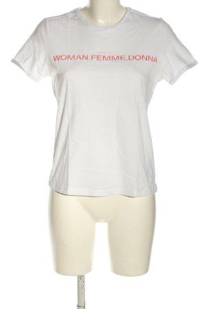 Vero Moda T-Shirt weiß-rot Schriftzug gedruckt Casual-Look