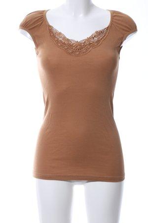 Vero Moda T-Shirt braun Casual-Look