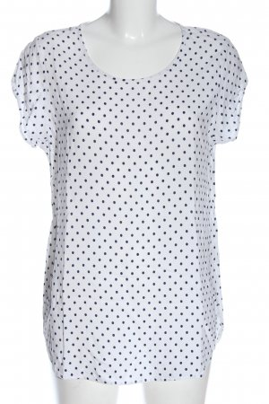 Vero Moda T-shirt blanc-bleu motif de tache style décontracté