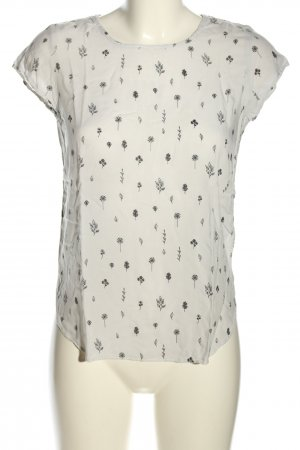 Vero Moda T-Shirt wollweiß-schwarz Allover-Druck Casual-Look
