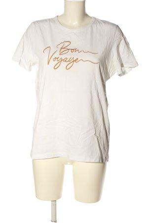 Vero Moda T-Shirt weiß-goldfarben Schriftzug gestickt Casual-Look