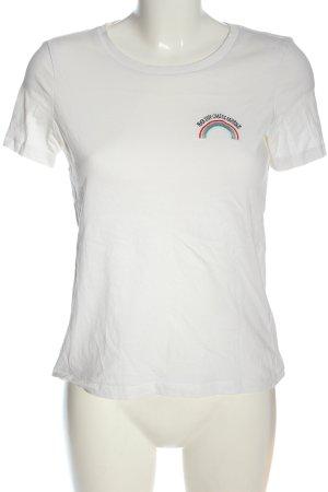 Vero Moda T-Shirt weiß Schriftzug gestickt Casual-Look