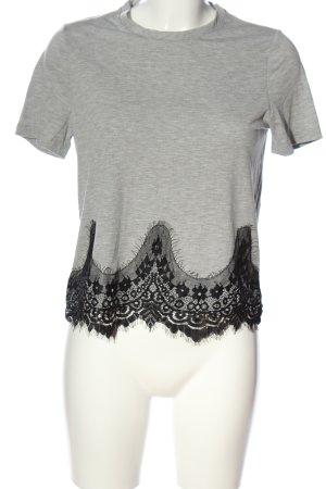 Vero Moda T-Shirt hellgrau-schwarz meliert Casual-Look