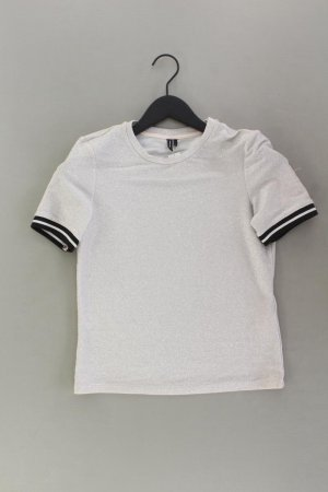 Vero Moda T-Shirt Größe S Kurzarm mit Glitzer silber aus Polyamid