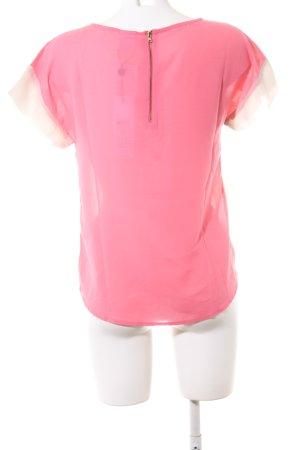 Vero Moda T-Shirt pink-wollweiß Streifenmuster Business-Look
