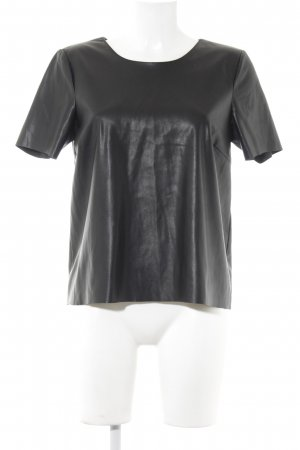 Vero Moda T-Shirt schwarz Glanz-Optik