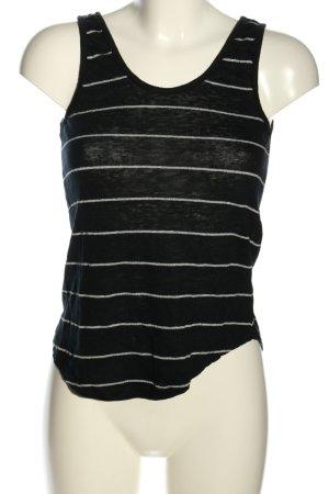 Vero Moda Tanktop schwarz-weiß Streifenmuster Casual-Look