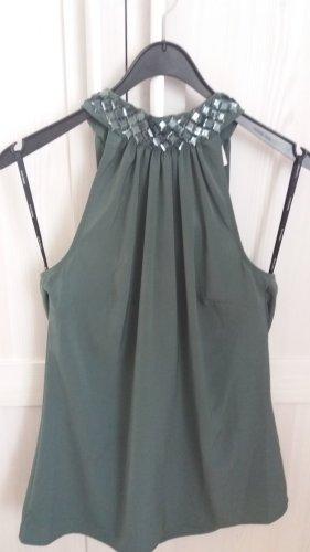 Vero Moda Top estilo halter verde grisáceo