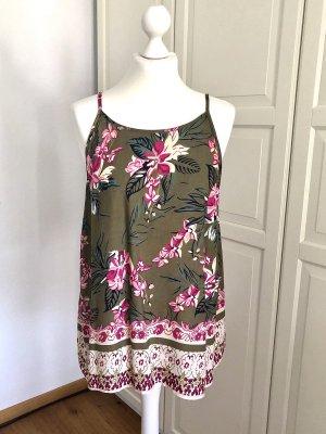 Vero Moda Top Khaki pink Blumen L