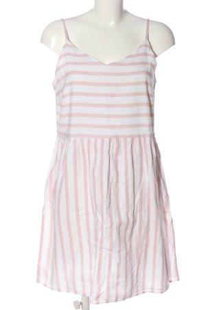 Vero Moda Trägerkleid weiß-pink Streifenmuster Casual-Look