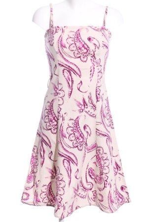 Vero Moda Trägerkleid wollweiß-pink abstraktes Muster Casual-Look