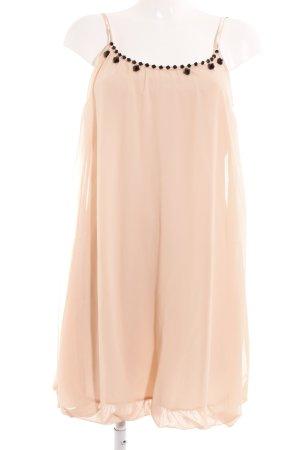Vero Moda Trägerkleid apricot Perlenverzierung