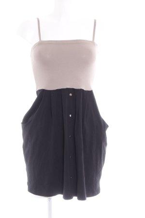 Vero Moda Trägerkleid schwarz-beige Casual-Look