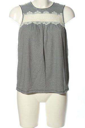 Vero Moda Trägertop schwarz-weiß Streifenmuster Casual-Look