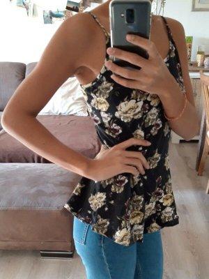 Vero Moda Trägertop [Schwarz mit Blumen, Gr. XS-S]
