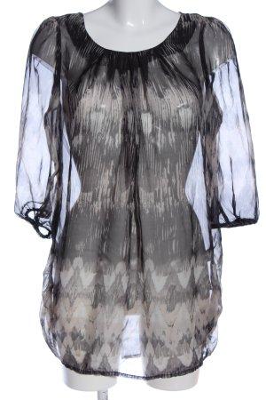 Vero Moda Transparent Blouse light grey-natural white abstract pattern elegant