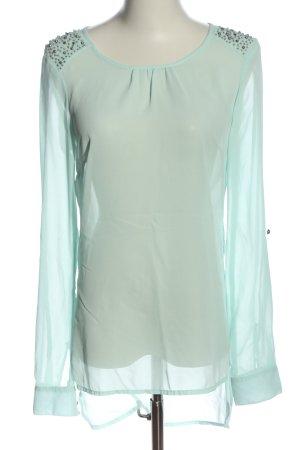 Vero Moda Transparenz-Bluse türkis Casual-Look
