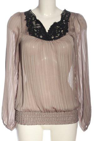 Vero Moda Transparenz-Bluse braun-schwarz Elegant