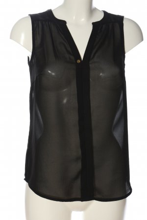 Vero Moda Transparenz-Bluse schwarz Casual-Look