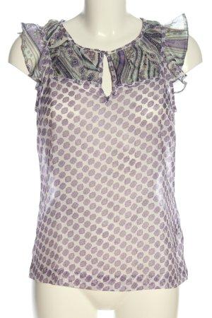 Vero Moda Transparenz-Bluse abstraktes Muster Casual-Look
