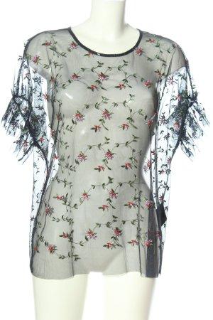 Vero Moda Transparenz-Bluse Allover-Druck Elegant