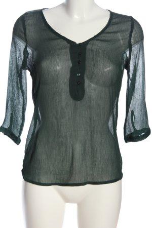 Vero Moda Transparenz-Bluse grün Casual-Look