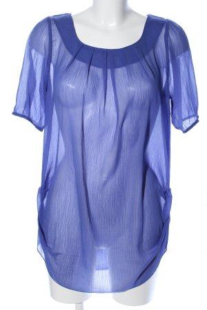 Vero Moda Transparenz-Bluse blau Casual-Look