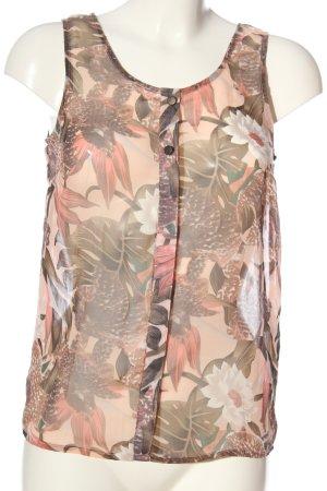 Vero Moda Transparenz-Bluse wollweiß-pink Blumenmuster Casual-Look