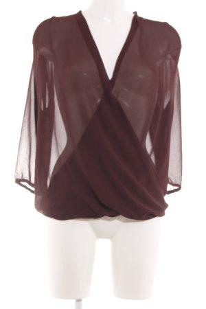 Vero Moda Transparenz-Bluse braun extravaganter Stil