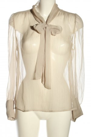 Vero Moda Transparenz-Bluse creme Business-Look