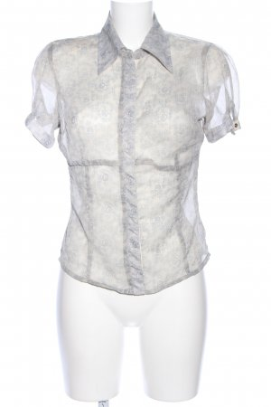 Vero Moda Transparenz-Bluse hellgrau Blumenmuster Casual-Look