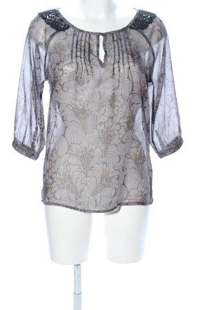 Vero Moda Transparenz-Bluse schwarz Allover-Druck Business-Look