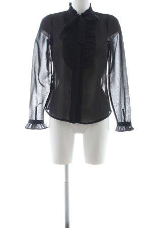 Vero Moda Transparenz-Bluse schwarz Elegant
