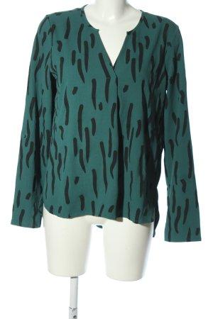 Vero Moda Tunikabluse grün-schwarz Allover-Druck Casual-Look
