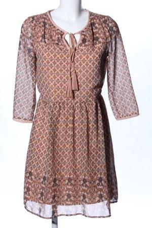 Vero Moda Robe tunique brun-rose chair imprimé allover style décontracté