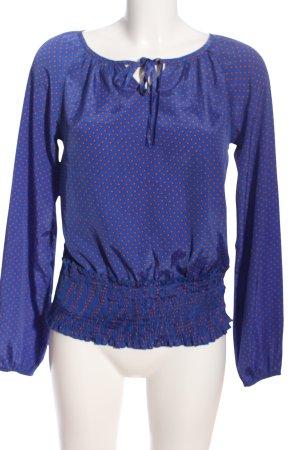 Vero Moda Schlupf-Bluse blau-hellorange Allover-Druck Elegant
