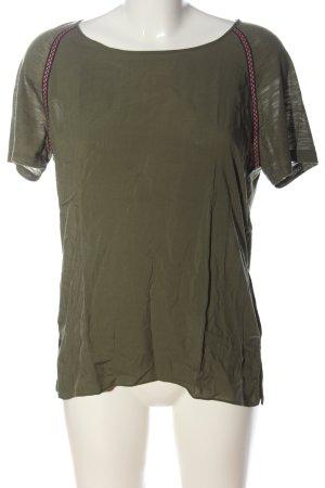 Vero Moda Boothalsshirt khaki casual uitstraling