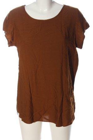 Vero Moda Boothalsshirt bruin casual uitstraling