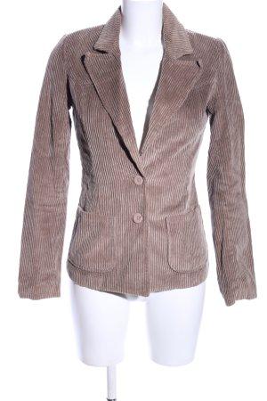 Vero Moda Unisex blazer bruin gestreept patroon casual uitstraling