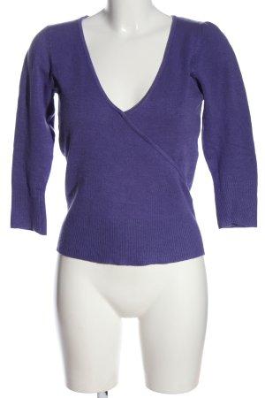 Vero Moda V-Ausschnitt-Pullover lila Casual-Look