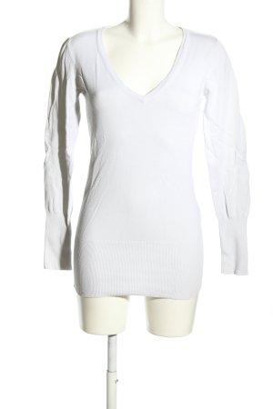 Vero Moda V-Ausschnitt-Pullover weiß Casual-Look