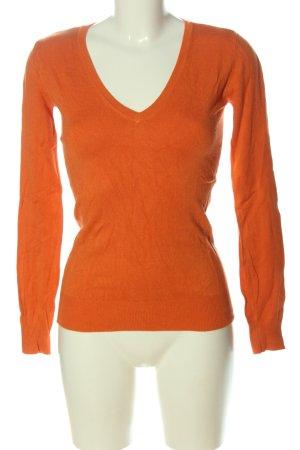 Vero Moda V-Ausschnitt-Pullover hellorange Casual-Look