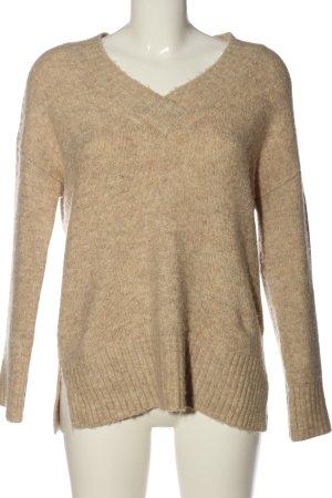 Vero Moda V-Ausschnitt-Pullover braun Casual-Look