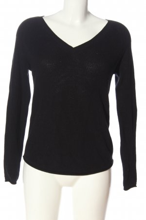 Vero Moda V-Ausschnitt-Pullover schwarz Casual-Look