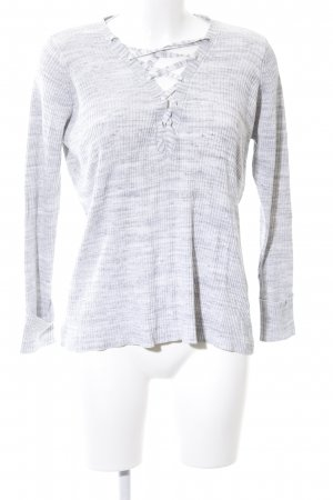 Vero Moda V-Ausschnitt-Pullover hellgrau meliert Casual-Look