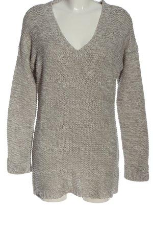 Vero Moda V-Ausschnitt-Pullover hellgrau Casual-Look